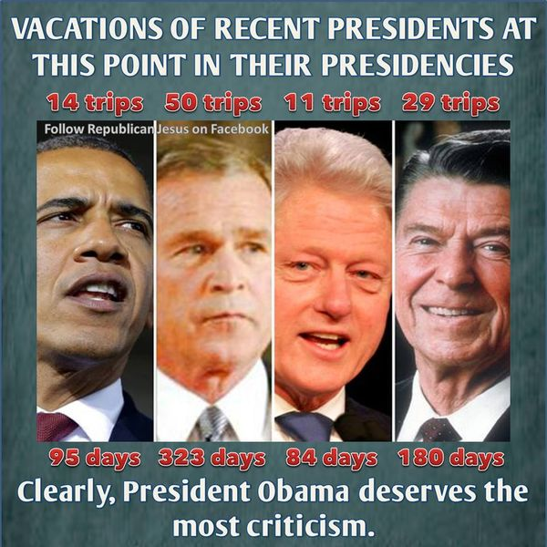 Which President Cost The Most Vacations: Big Difference Between Obama Vs Bush Vacations In Your