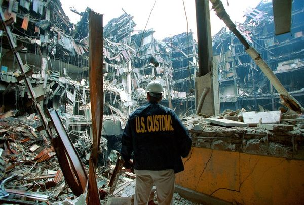 World trade center collapse inside