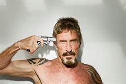 Photo of Mcafee after escaping mental hospitial...