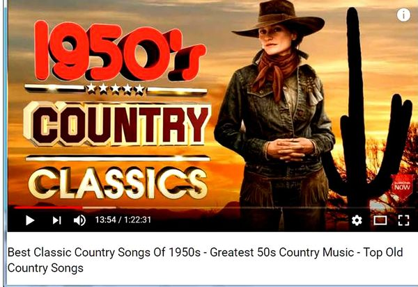 Best Classic Country Songs Of 1950s - Greatest 50s Country Music