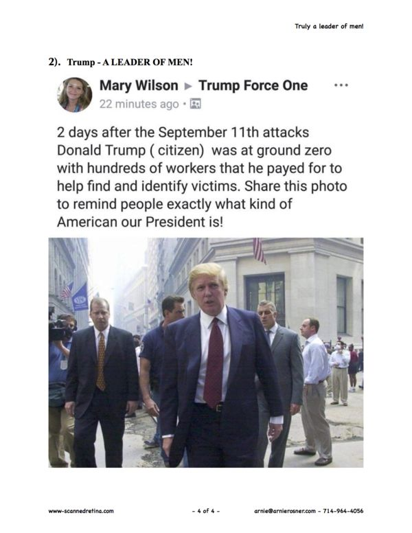 Donald Trump - Sept 11, 2001...