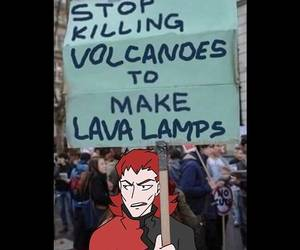 A cartoon character holding same sign...