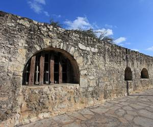 Wall around the Alamo...