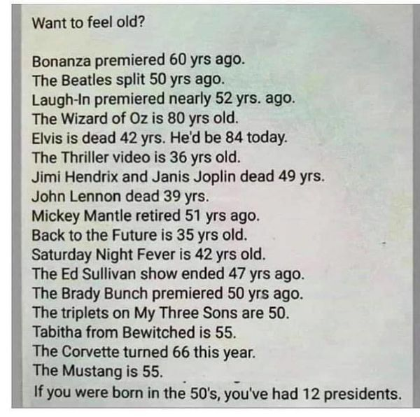 You too, can feel old if you read this......